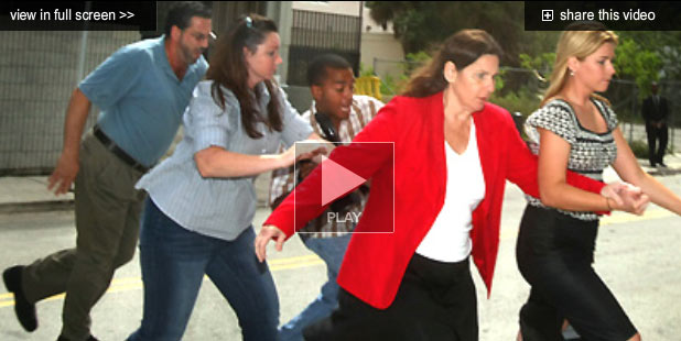 Alleged Thief Beverly Gallagher Running From Media
